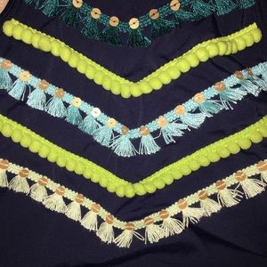 aerie Swim - embroidered high neck bathing suit